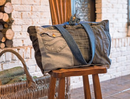 Upcycling mit Jeans – genähter Shopper