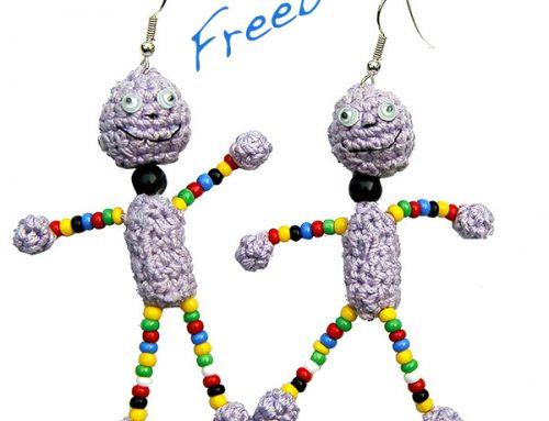 Freebie: gehäkelter Ohrschmuck
