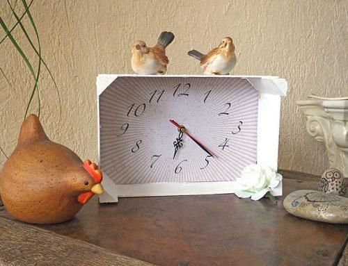 Upcycling: Mandarinenkiste als Uhr gestalten