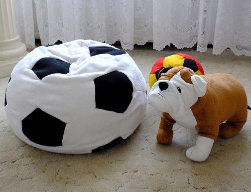 Schnittmuster: Fußball-Kissen