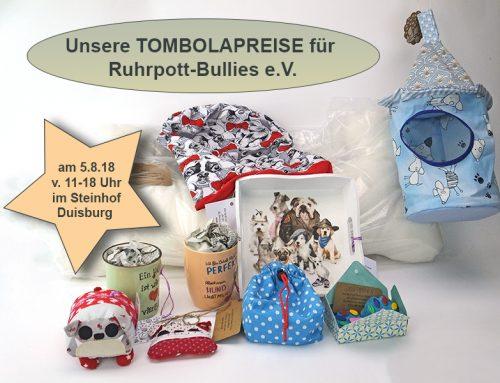 Kreatives von uns gibt es bei der Tombola am 5.8.18 auf der Ruhrpott Hundemesse im Steinhof Duisburg zu gewinnen
