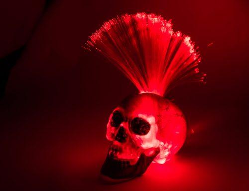 DIY Skull-Punk-Leuchte