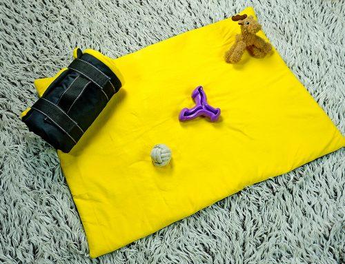 Upcycling Projekt: Kleinkind Krabbeldecke oder Hundedecke für unterwegs