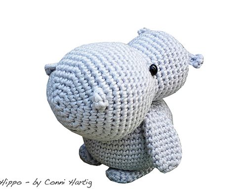 Häkelanleitung Mama Hippo / free crochet pattern mum hippo
