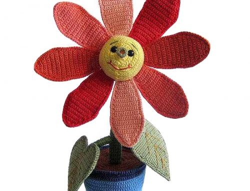 Häkelanleitung Blume Gertrude Gerbera von Andrea Renz